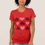 Camiseta de los corazones del el día de San