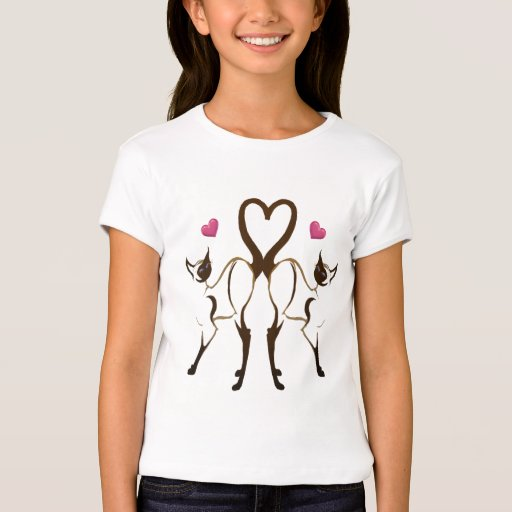 Camiseta de los corazones del gatito