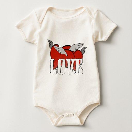 Camiseta de los corazones mameluco