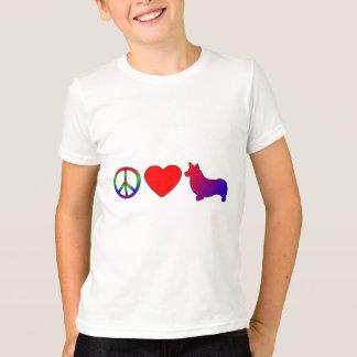 Camiseta de los Corgis Galés del Pembroke del amor