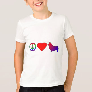 Camiseta de los Corgis Galés del Pembroke del amor Camisas