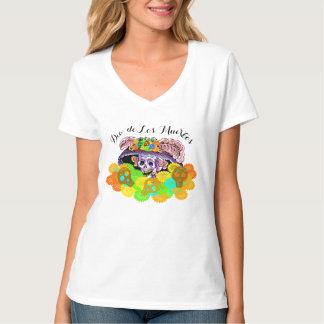 Camiseta de los cráneos de Dia De Los Muertos Camisas