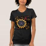Camiseta de los cráneos del girasol