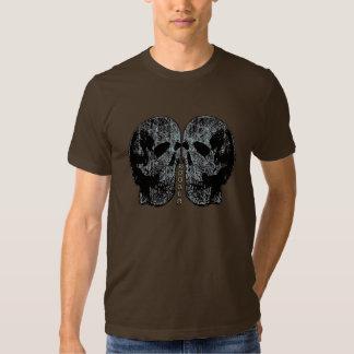 Camiseta de los cráneos playera