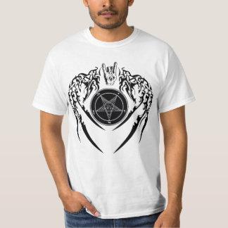 Camiseta de los cuernos y de las alas de Satan