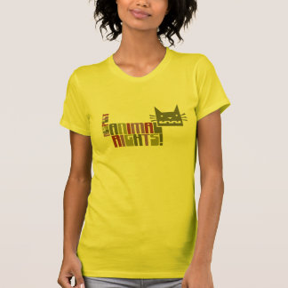 Camiseta de los derechos de los animales del polera