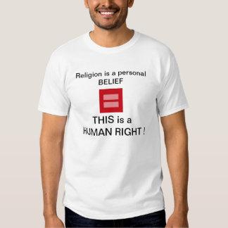 Camiseta de los DERECHOS HUMANOS Poleras