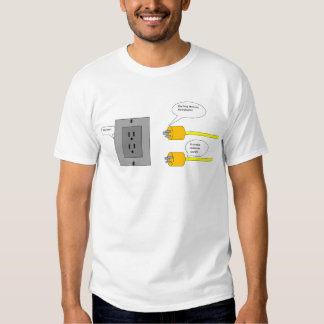 camiseta de los dibujos animados de los enchufes poleras