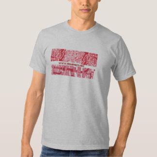 camiseta de los doodles del rojo remeras