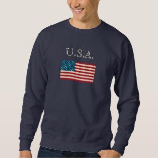 Camiseta de los E.E.U.U. de la bandera americana Suéter