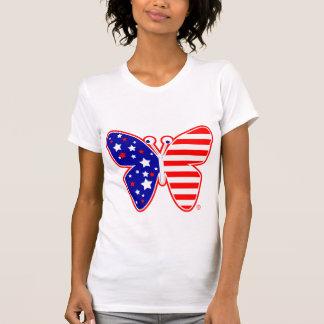 Camiseta de los E.E.U.U. de la mariposa