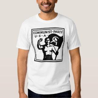 Camiseta de los E.E.U.U. del Partido Comunista Polera