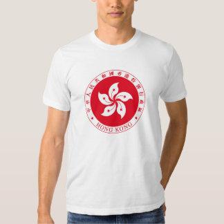 Camiseta de los escudos de armas de Hong Kong Playera