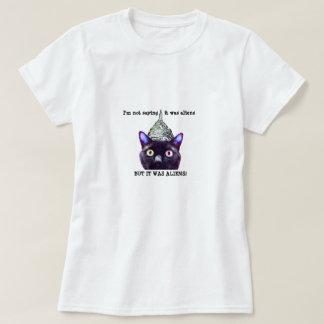 Camiseta de los extranjeros del gato negro poleras