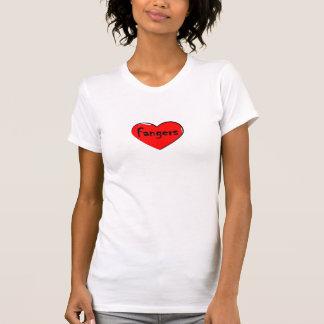 Camiseta de los fangers del corazón I Remera