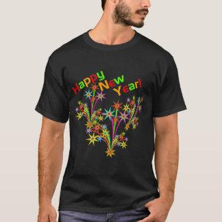Camiseta de los fuegos artificiales de la Feliz