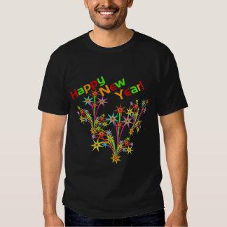 Camiseta de los fuegos artificiales de la Feliz Playera