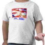 Camiseta de los fuegos artificiales del niño