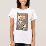 Camiseta de los gatos de Kuniyoshi cuatro