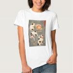 Camiseta de los gatos de Kuniyoshi cuatro Playera
