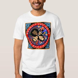 Camiseta de los gatos de la BANDERA BLANCA Playera