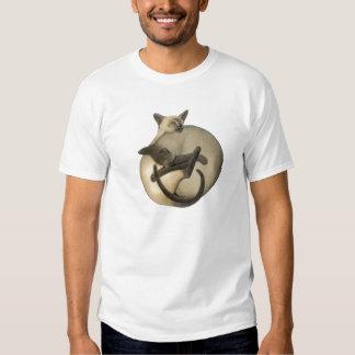 Camiseta de los gatos siameses de Yin Yang Remera