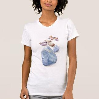 Camiseta de los guijarros de la playa