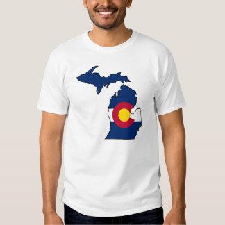 Camiseta de los individuos del esquema de Michigan Polera
