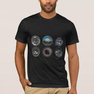 Camiseta de los instrumentos del vuelo de los
