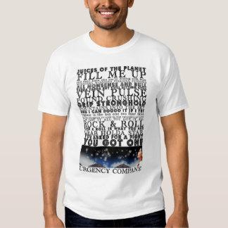 Camiseta de los jugos de la urgencia playeras