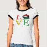 Camiseta de los labios de Afrocentric del AMOR Poleras