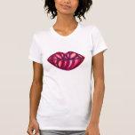 Camiseta de los labios de la roca