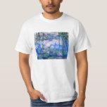 Camiseta de los lirios de agua de Monet Playeras