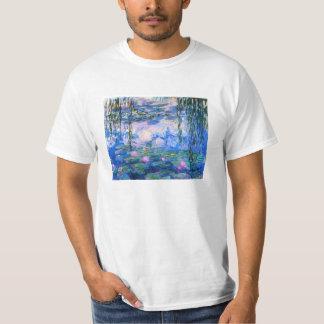 Camiseta de los lirios de agua de Monet Poleras