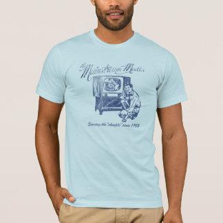 Camiseta de los medios de la corriente principal
