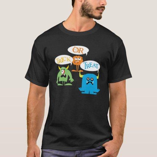 Camiseta de los monstruos del truco o de la
