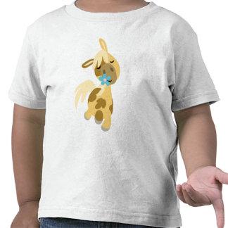 Camiseta de los niños azules de la flor y del