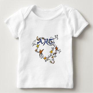 Camiseta de los niños de la voluta del arte