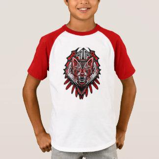 Camiseta de los niños del cuello en v del arte del