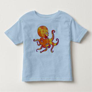 Camiseta de los niños del pulpo del dibujo animado playera