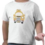 Camiseta de los niños pequeños del taxi del dibujo