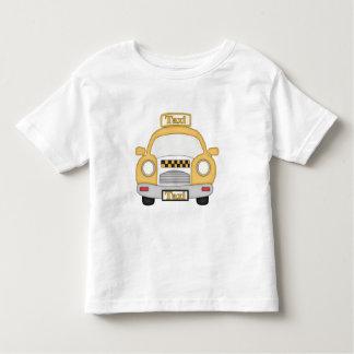 Camiseta de los niños pequeños del taxi del dibujo playera de niño