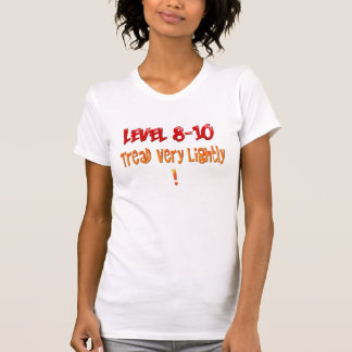 Camiseta de los niveles del dolor del nivel 8 - 10 playera