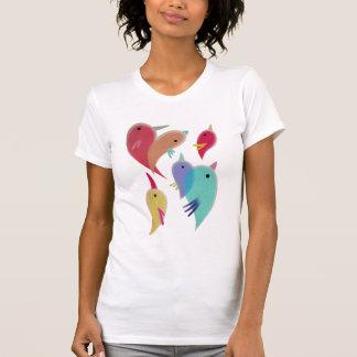 Camiseta de los pájaros del corazón