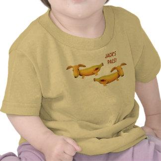 Camiseta de los Pals del perrito del plátano