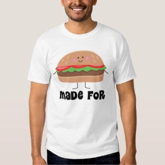 Camiseta de los pares hecha para uno a hamburguesa remeras