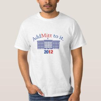 Camiseta de los partidarios de Mitt Romney