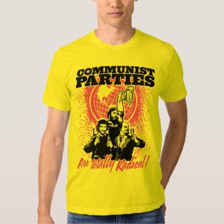 Camiseta de los Partidos Comunistas Camisas
