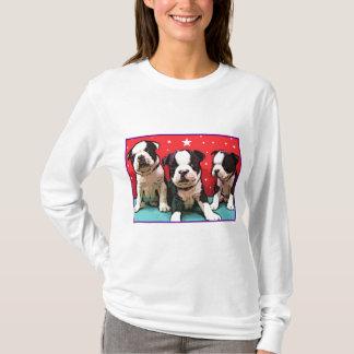 Camiseta de los perritos de Boston Terrier