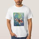 Camiseta de los pescados de Koi de la mariposa Playera